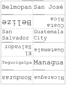 Central American Capitals