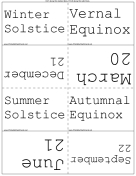 Dates of Equinoxes and Solstices
