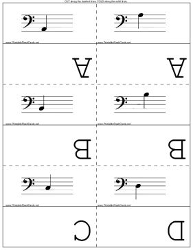 Bass Clef template