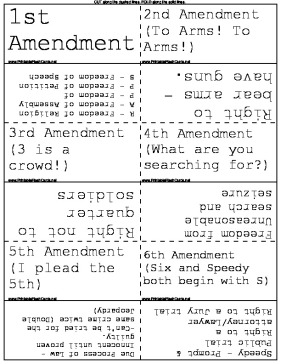 Bill of Rights template