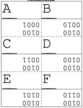 Binary Alphabet template