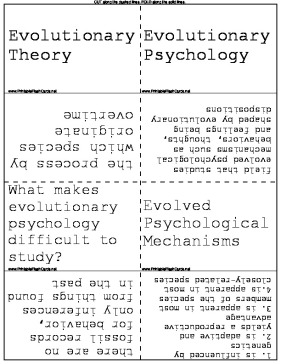 Evolutionary Theory template