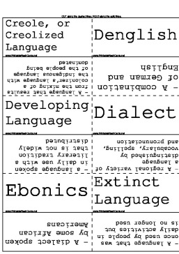Evolving Language and Dialects template
