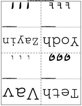 graphic about Hebrew Alphabet Flash Cards Printable named Hebrew Alphabet Flash Playing cards
