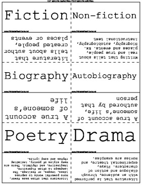 Literary Genres template