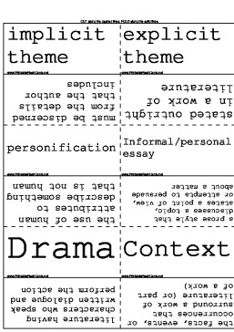 Literary Terms template