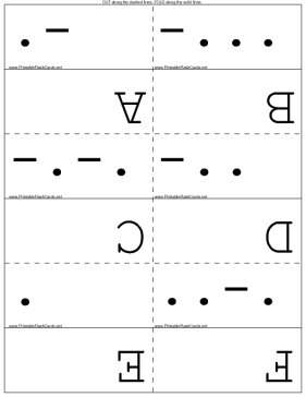 photo relating to Morse Code Printable titled Morse Code Flash Playing cards