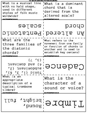 Music Terminology template