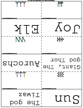 Runic Words template