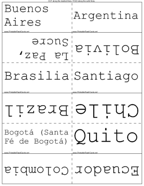 South American Capitals template