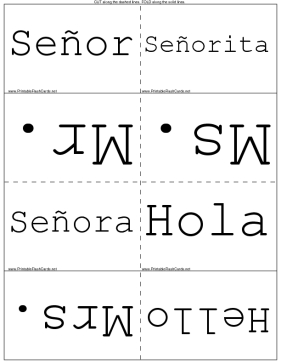 Spanish Conversation template