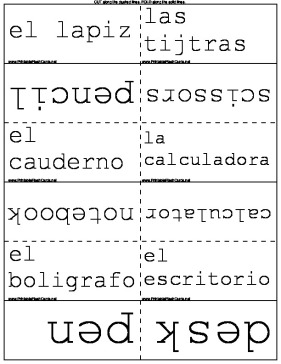 Spanish Words for the Classroom template