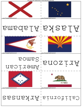 State Flags (hard version) template