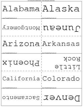 States and Capitals template