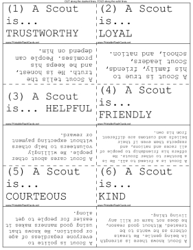 The Meaning of the Boy Scout Law template