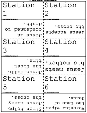 The Stations of the Cross template