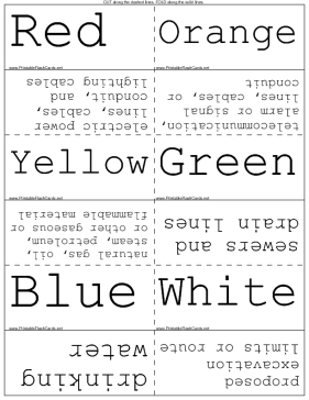Underground Utility Color Codes template
