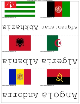 photo about Printable Flags named Globe Flags Flash Playing cards